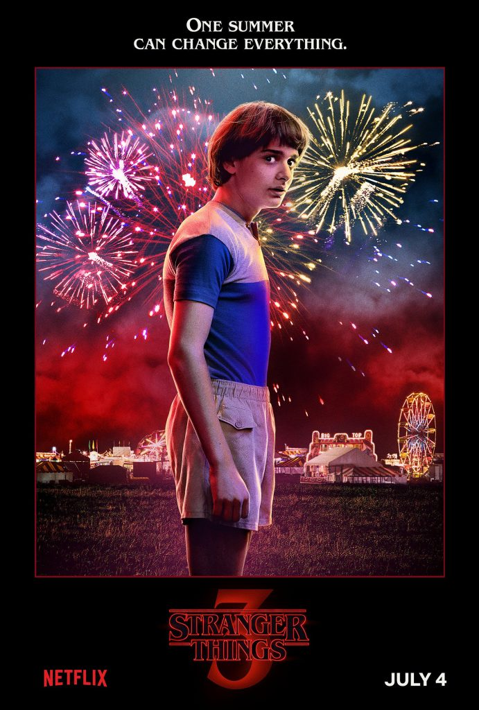 Plakat 3 sezonu Starnger Things z Willem