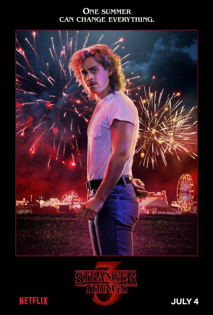 Plakat 3 sezonu Starnger Things z Billym