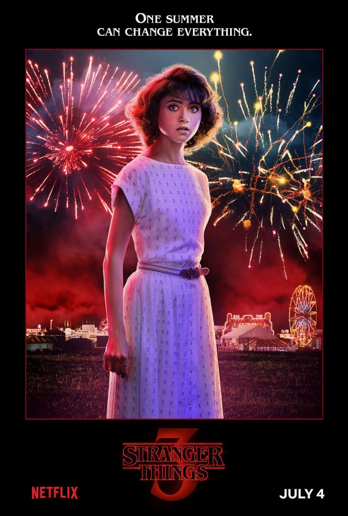 Plakat 3 sezonu Starnger Things z Nancy