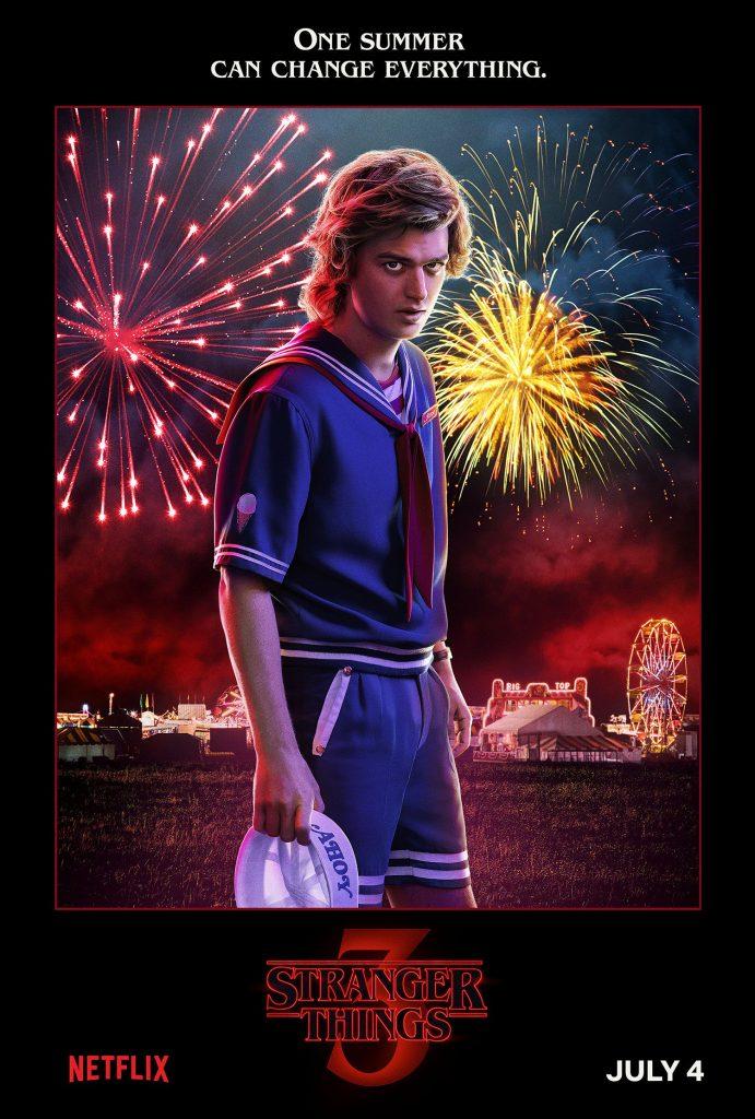 Plakat 3 sezonu Starnger Things ze Stevem