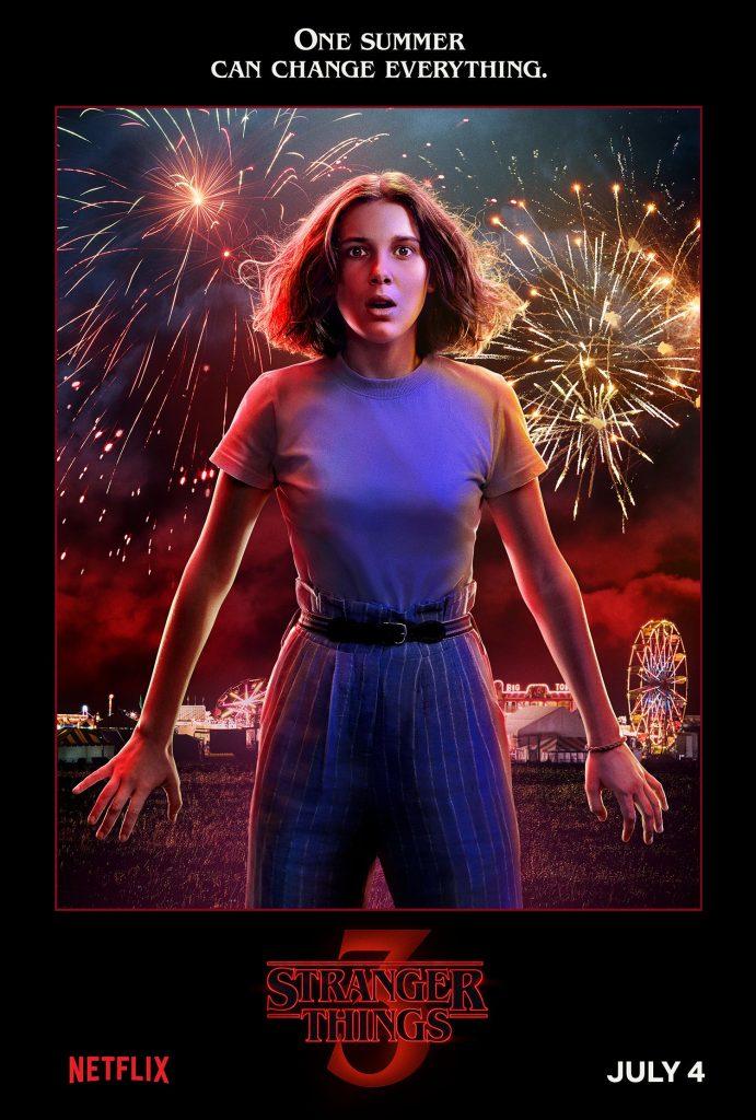 Plakat 3 sezonu Starnger Things z Eleven