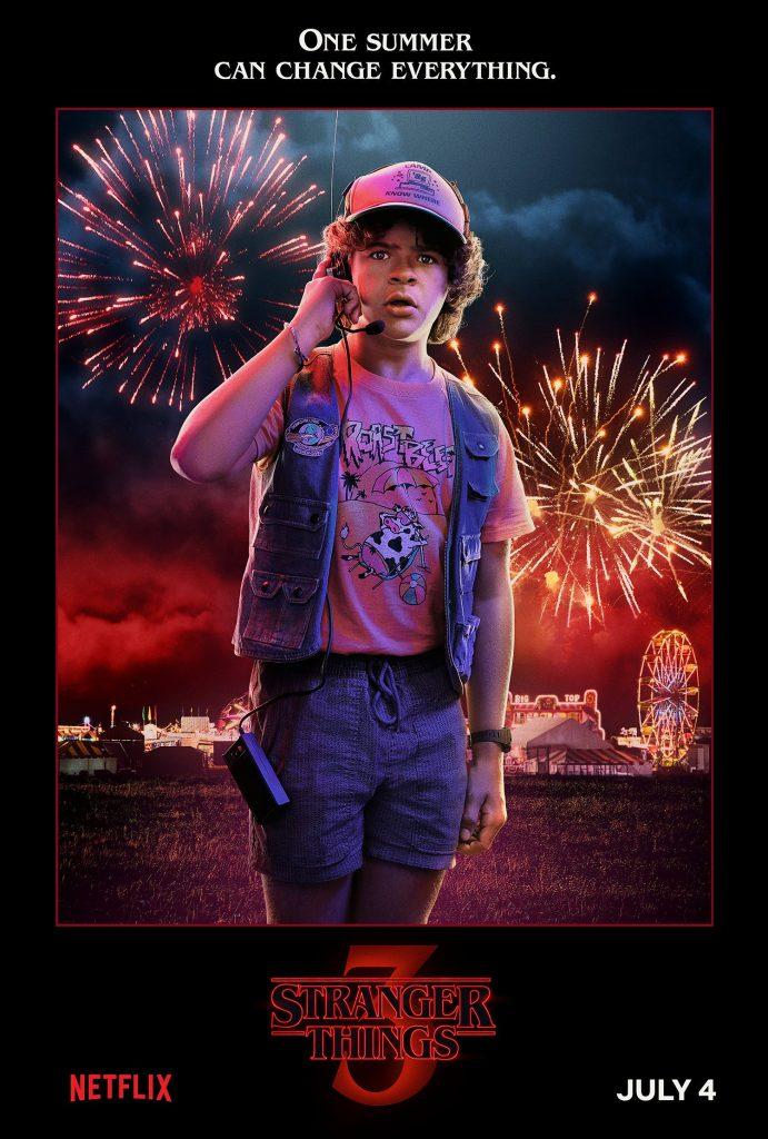 Plakat 3 sezonu Starnger Things z Dustinem